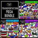 Transportation Clipart Bundle {Creative Clips Clipart}
