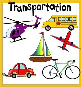 transportation clipart includes color and black white by mrs mellor rh teacherspayteachers com transportation clip art images transportation clip art free printable
