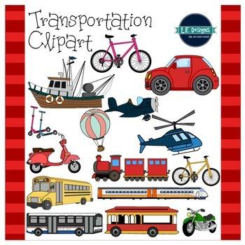 Transportation Clipart {L.E. Designs}