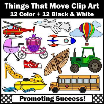 Transportation Clipart, Things That Go Clip Art, Things That Move Clipart
