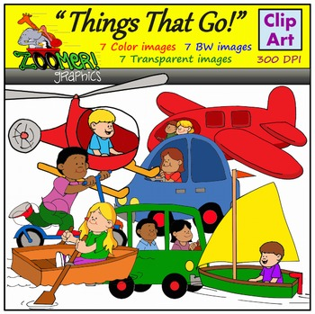 Transportation Clipart - Things that Go!