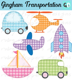 Transportation Clipart: Truck, Car, Plane, Rocket, Helicop