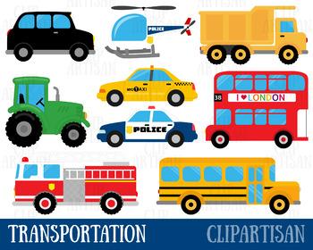 Transportation Clipart, Vehicles Clip Art