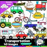Transportation Clipart bundle - 40 images! For Personal an