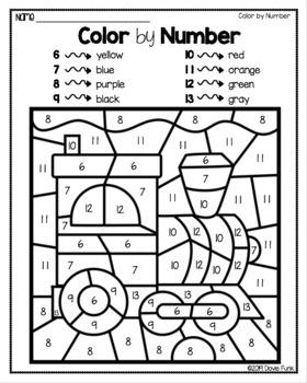 Transportation Color By Number Worksheets and Answer Keys ...