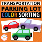 Transportation Color Matching Activity:  Parking Lot of Color