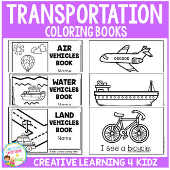 Transportation Coloring Books