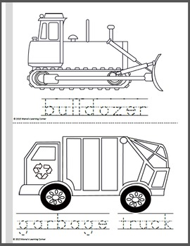 Transportation Coloring Pages By Mama S Learning Corner Tpt
