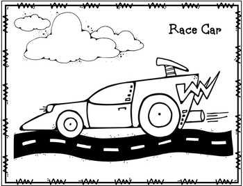 Transportation Coloring Pages by Preschoolers and Sunshine | TpT