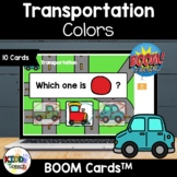 Transportation Colors BOOM Cards  Speech Therapy