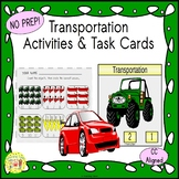 Transportation Clip Task Cards