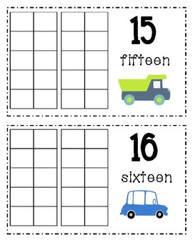 Transportation Counting Book 10-20
