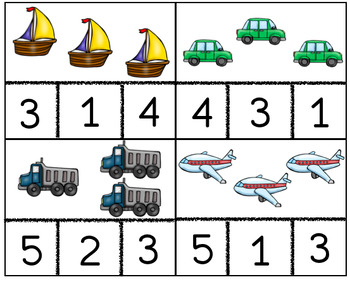 Transportation Counting Cards