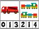 Transportation Counting Number Clip Cards 1 - 20 No prep Math Center Activity