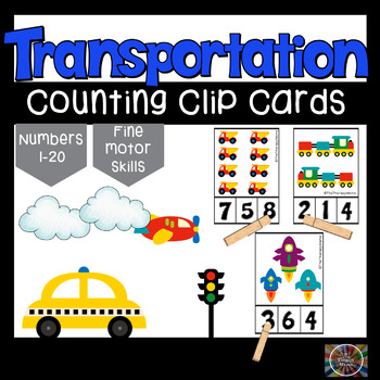 Transportation Count and Clip Number Cards