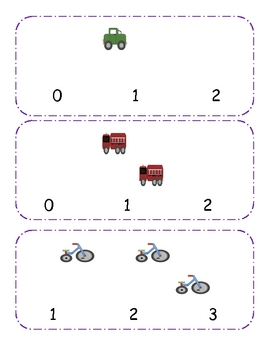 Transportation Counting clip cards