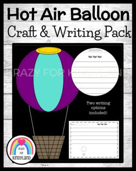 Transportation Craft and Writing: Hot Air Balloon