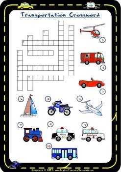 Transportation Crossword | FREE Worksheet