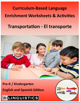 Transportation - Curriculum‐Based Language Enrichment Worksheets & Activities