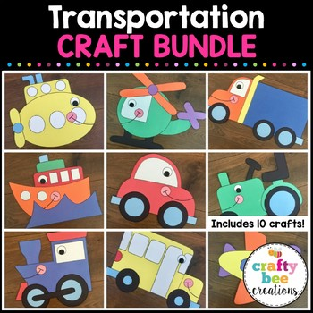 Transportation Cut and Paste Set