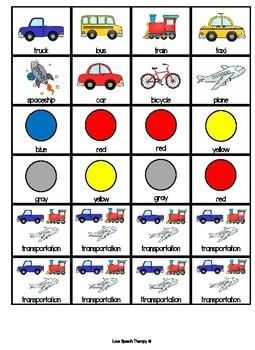 Transportation Describing Interactive Book