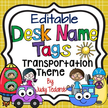 Transportation Desk Name Tags...Editable