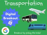 Transportation - Digital Breakout! (Distance Learning, Goo