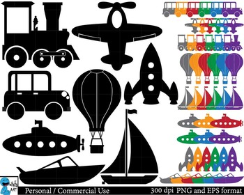 Transportation Digital Clip Art Graphics 56 images cod36