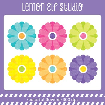 Colorful Flowers-Freebie (LES.FB01)