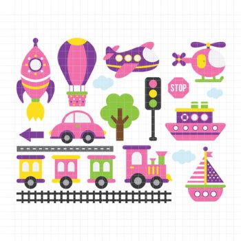 Transportation-Digital Clipart (LES.CL01B)