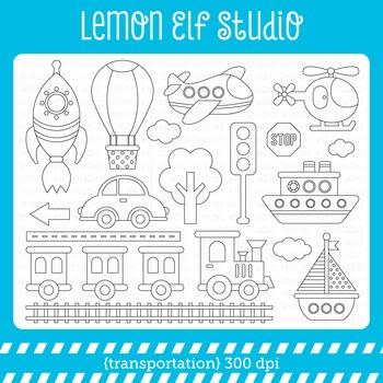 Transportation-Digital Stamp (LES.DS01)