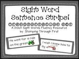 Transportation Dolch Sight Word Sentence Strips