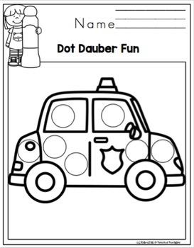 Transportation Dot Dauber Fun for Toddlers