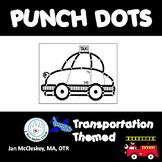 Fine Motor Transportation Dot or Poke Clip Art for Fine Motor Skills Activities