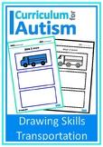 Transportation Drawing Skills Autism Fine Motor