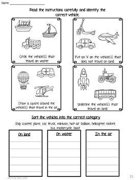 ESL Means of Transportation -Flashcards, Worksheets & Activities