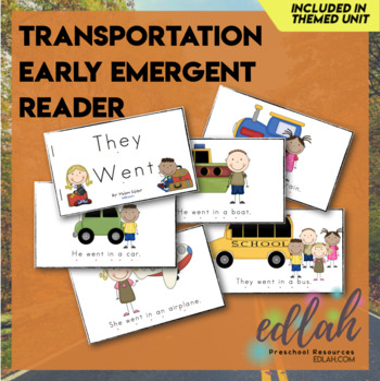 Transportation Early Emergent Reader