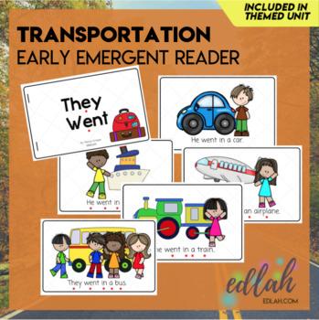 Transportation Early Emergent Reader - Full Color Version