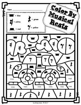 Transportation Edition: Color By Music Activity Fun Packet-PDF Wksht. Collection