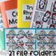 Transportation File Folders for Special Education