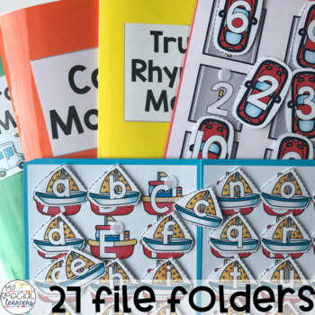 Transportation File Folders for Special Education