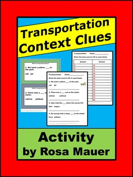 Transportation Task Cards