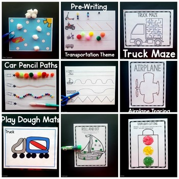 Transportation Fine Motor Activities -Transportation Activities