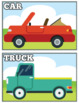 Transportation Flash Cards Instant Download PDF; Preschool, Kindergarten, School