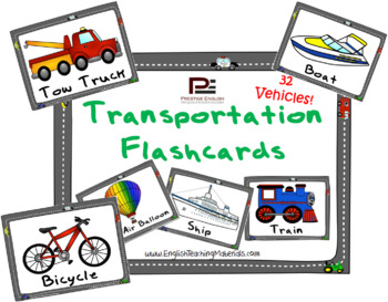 Transportation Flashcards | FREE/FREEBIE