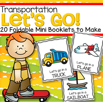 Transportation Foldable Mini Booklets to Make - 10 in color, 10 in b/w