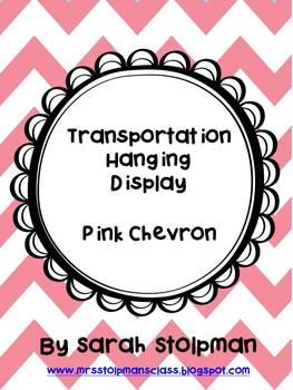 Transportation Hanging Display (Pink Chevron)