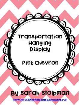 Transportation Hanging Display (Pink Chevron)