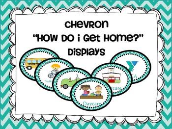 """Transportation/ """"How Do I Get Home"""" Display Cards {chevron}"""