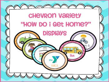 "Transportation/ ""How Do I Get Home"" Display Cards {chevron variety}"